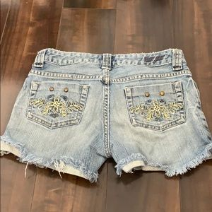 Guess Shorts - Guess distressed studded shorts